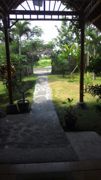 photo: sublime restaurant joglo full furnished 15 ara. beautiful ricefield view for sale 18 years