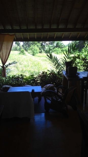 photo: Sublime fully-furnished joglo restaurant  for sale (18-year lease). 1500 sqm with beautiful ricefield view